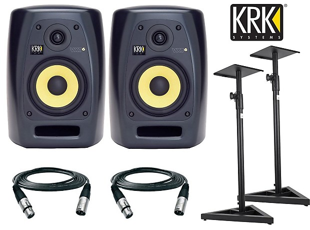 krk vxt6 active studio monitor 6 inch 90 watts pair free reverb. Black Bedroom Furniture Sets. Home Design Ideas