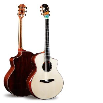 41 inch full veneer ballad acoustic guitar