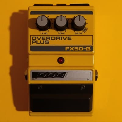DOD FX50-B Overdrive Plus w/box, manual & 3.5mm converter