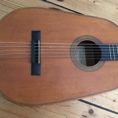 Rene Gerome Oval Hawaiian Guitar C 1920's France Vintage Antique for sale