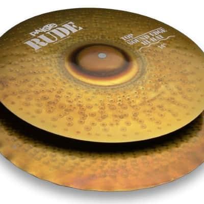 "Paiste 14"" RUDE Sound Edge Hi-Hat Cymbals (Pair) Raw"