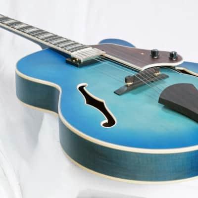 Ibanez AFJ91JLF Artcore Expressionist Hollowbody Outstanding Flat Jet Blue Burst for sale