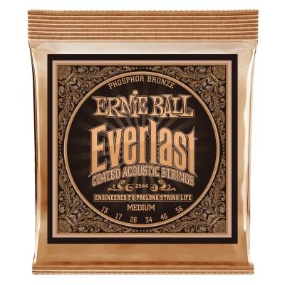 Ernie Ball P02544 Everlast Phos Bronze Acoustic Gutar Strings, .013 - .056