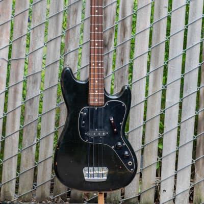 Fender Musicmaster Bass 1975 Black OHSC