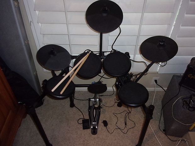 9 Pc Electronic Drum Set Simmons 4 x PDS-4 Pad 3 x CPS-5
