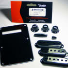 Genuine Fender Black Strat Stratocaster Accessory Kit - BackPlate, Knobs, Covers image