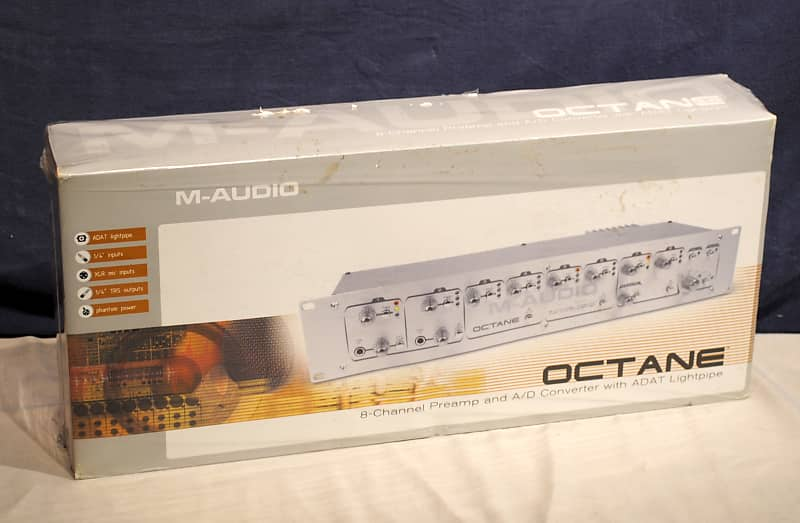 m audio octane 8 channel preamp and a d converter w adat reverb. Black Bedroom Furniture Sets. Home Design Ideas