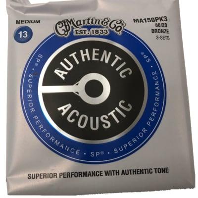 Martin  MA150PK3 Bronze Medium Acoustic Strings 3 Complete Sets
