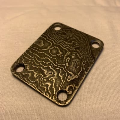 Scott Walker Damascus Neck Plate for sale