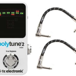 TC Electronic Polytune 2 Mini Bundle with Fender Patch Cables
