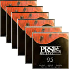 6 Sets of PRS Paul Reed Smith ACC-3104 Electric Guitar Strings (9.5-44) image