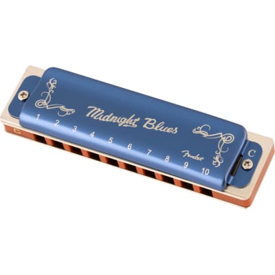 Fender Midnight Blues Diatonic Harmonica - Key of C