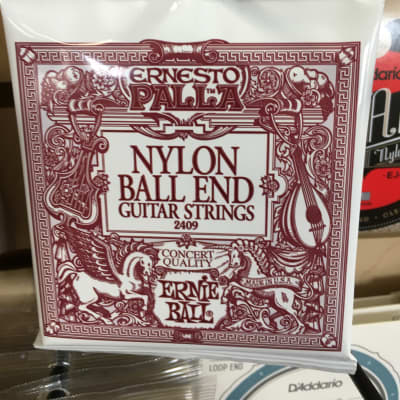 Ernie Ball 2409 Ernesto Palla Black Nylon Gold Ball End Classical Guitar Strings, .028 - .042