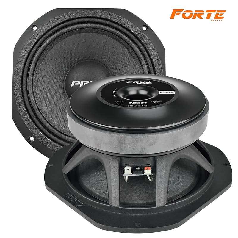 2x PRV Audio 8MB600FT 8 Mid Bass Woofer Forte Series