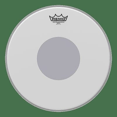 """Remo 13"""" Controlled Sound Coated Black Dot Snare Drum Head w/ Video Link"""