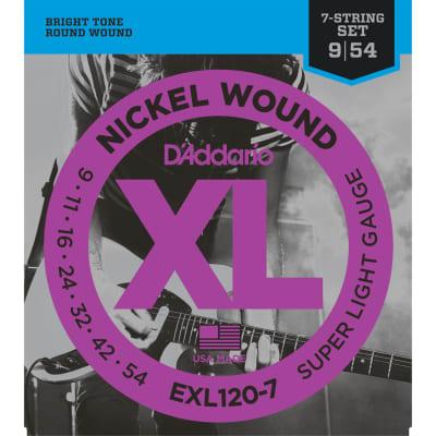 D'Addario EXL120-7 Nickel Wound 7-String Super Light 9-54