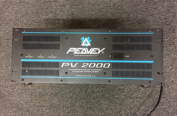Verwonderend Peavey PV2000 Professional Stereo Power Amplifier - 2000 | Reverb BS-95