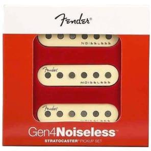 Fender® Gen 4 Noiseless Stratocaster® Pickup Set~10.3k~Aged White~USA~Brand New