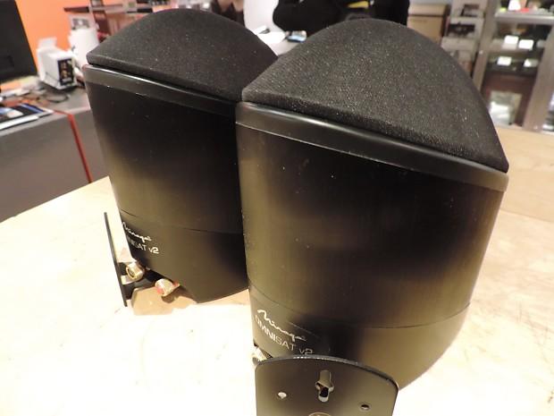 Mirage Omnisat V2 Satellite Speakers W Wall Brackets Reverb