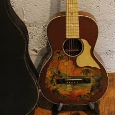 1920s Stromberg-Voisinet Hawaiian Themed Parlor Guitar - Very Cool!