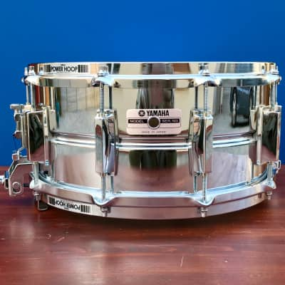"Yamaha SD-296 6.5x14"" 10-Lug Steel Snare Drum"