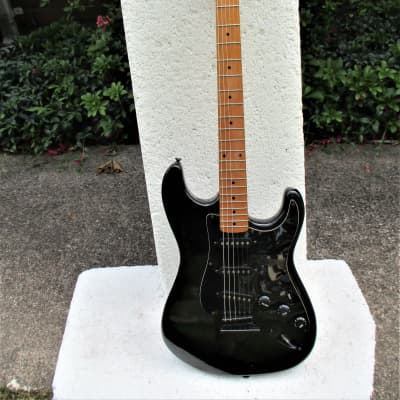 Palmer Strat Style  Guitar, 1990 , Korea,  Black, Plays And Sounds Very Good for sale