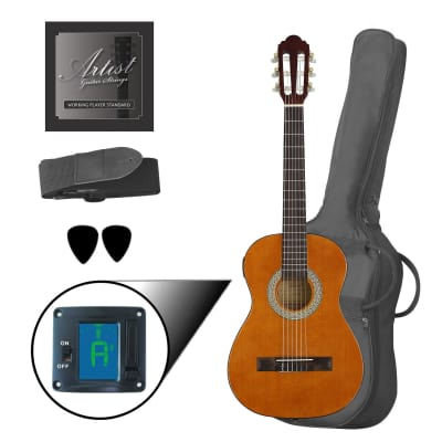 Artist CL12AM 1/2 Size Classical Guitar Pack, Nylon String - Amber for sale