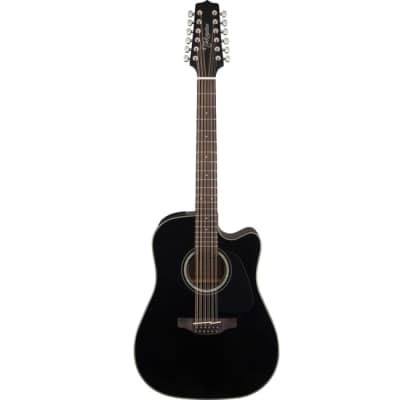 Takamine G30 Series Acoustic Guitar 12-String Dreadnought Black w/ Pickup & Cutaway - TGD30CE12BLK for sale