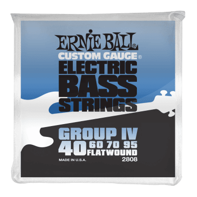 Ernie Ball 2808 Flatwound Group IV Electric Bass Guitar Strings gauges 40-95