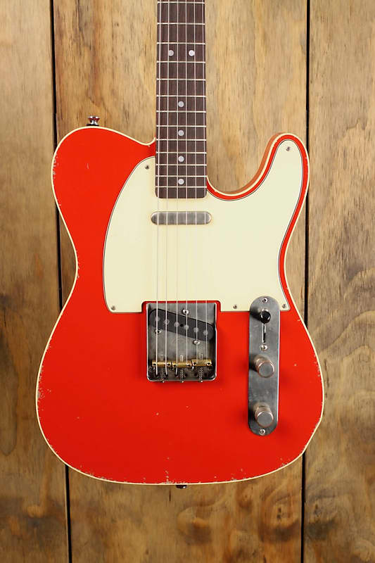 maybach teleman t61 red rooster aged custom shop 2018 red | reverb