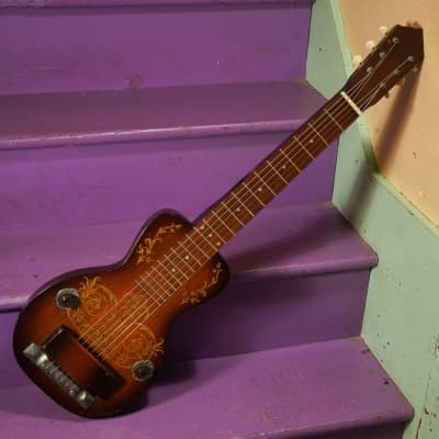 1930s Oahu Deluxe (Kay-made) Lap Steel Electric Guitar w/OHSC (VIDEO! Setup, Ready to Go) for sale