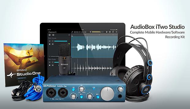 presonus audiobox itwo studio interface headphones complete reverb. Black Bedroom Furniture Sets. Home Design Ideas