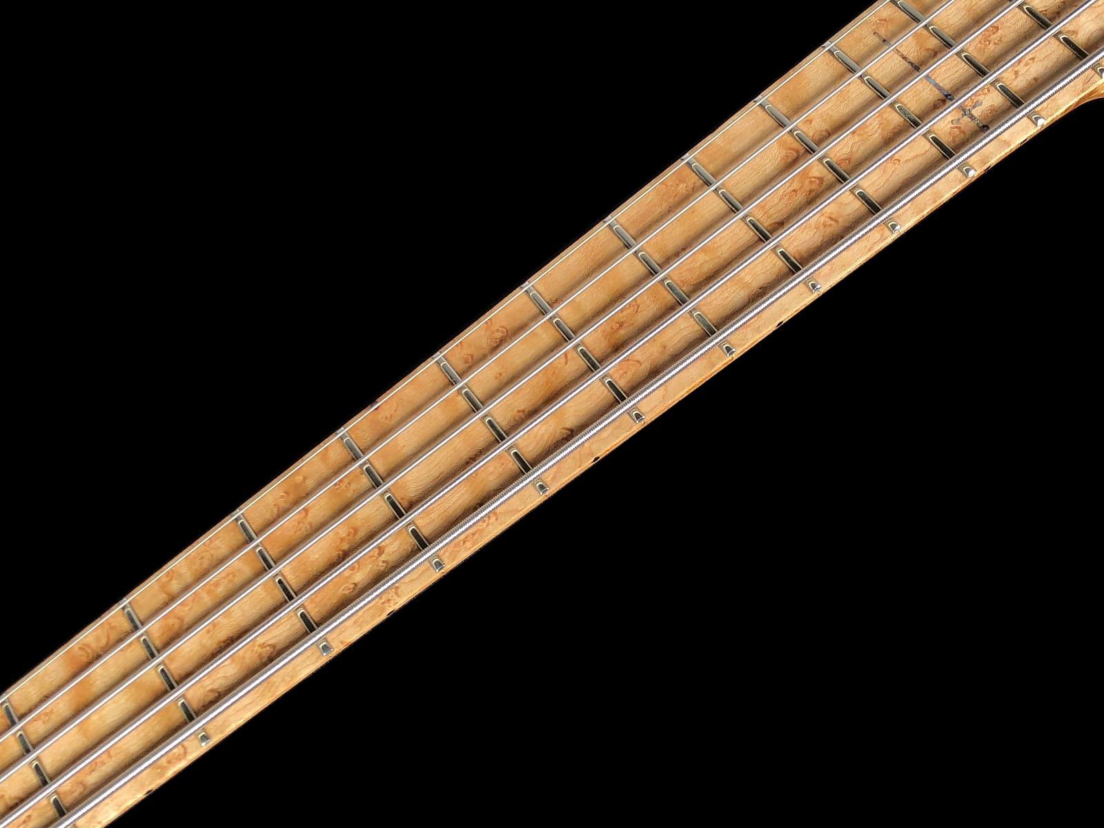 2017 Warrior Isabella 5-String Bass w Flamed Maple Top, Neck-Thru & Birds-Eye Maple Fretboard ~ Nat