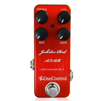 One Control Jubilee Red Distortion BJF Series FX Guitar Effects Pedal
