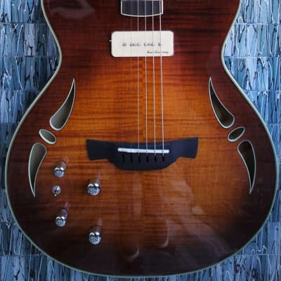 Crafter Slim Arch Electric Left-Handed Guitar, Tiger Maple for sale