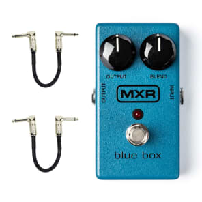 MXR M103 Blue Box Octave Fuzz with Free Patch Cables for sale