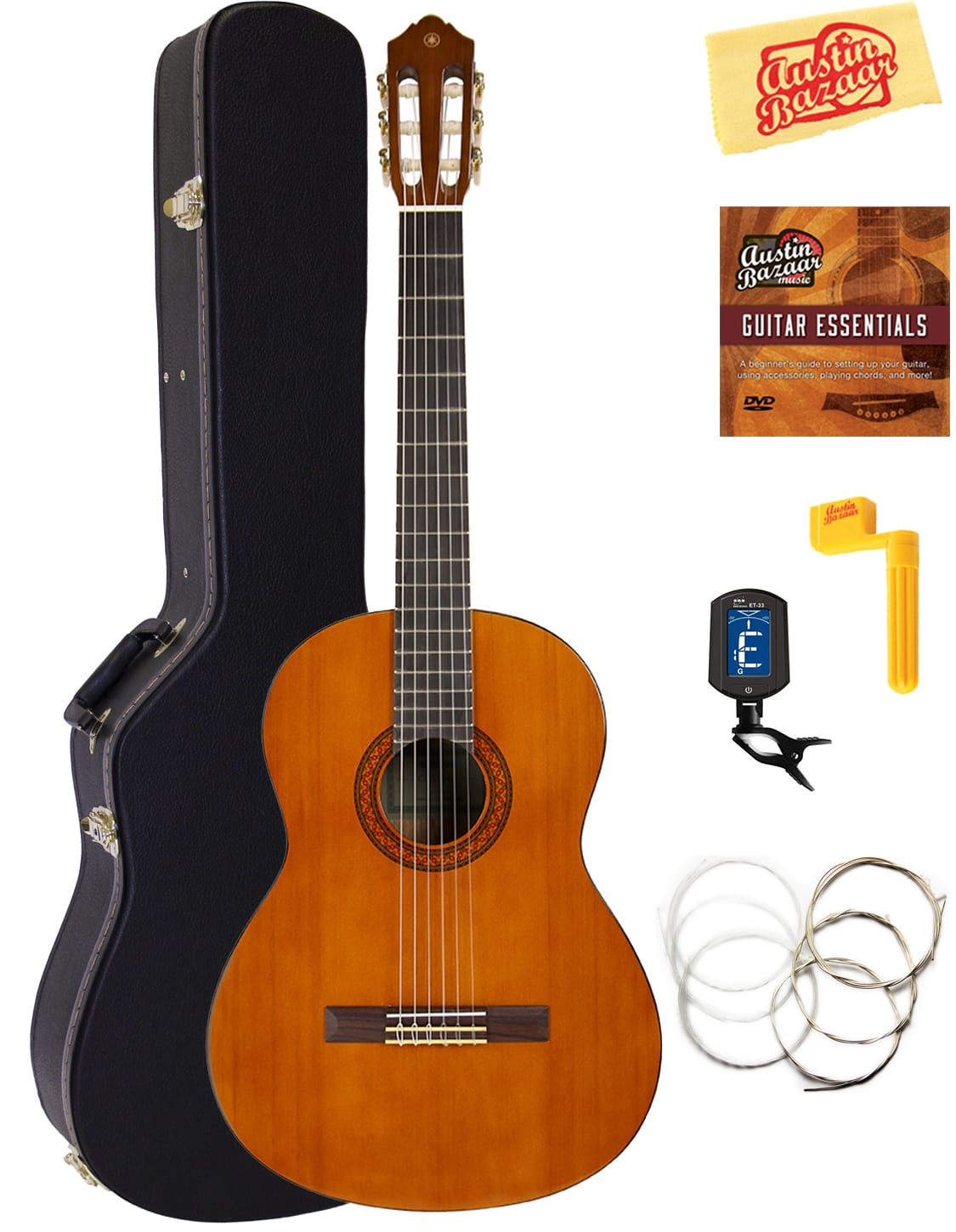 yamaha cgs104a full size classical guitar w hard case reverb. Black Bedroom Furniture Sets. Home Design Ideas