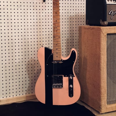 Stew Mac Kit Tele 2020 shell pink/black/maple, light relic for sale