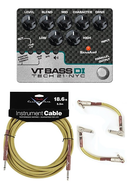 new tech 21 sansamp vt bass driver di bass guitar pedal w reverb. Black Bedroom Furniture Sets. Home Design Ideas
