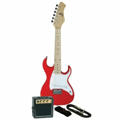 J. Reynolds Kids 1/2 Size Mini Electric Guitar Prelude Package, Rockin' Red for sale