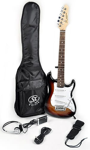 SX 1/2 Size Electric Guitar Package w/Bag Headphones & | Reverb