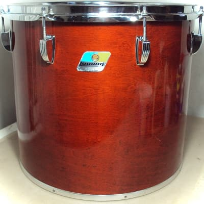 """Ludwig 16"""" x 14"""" Power Factory Concert Tom Natural Red Mahogany"""