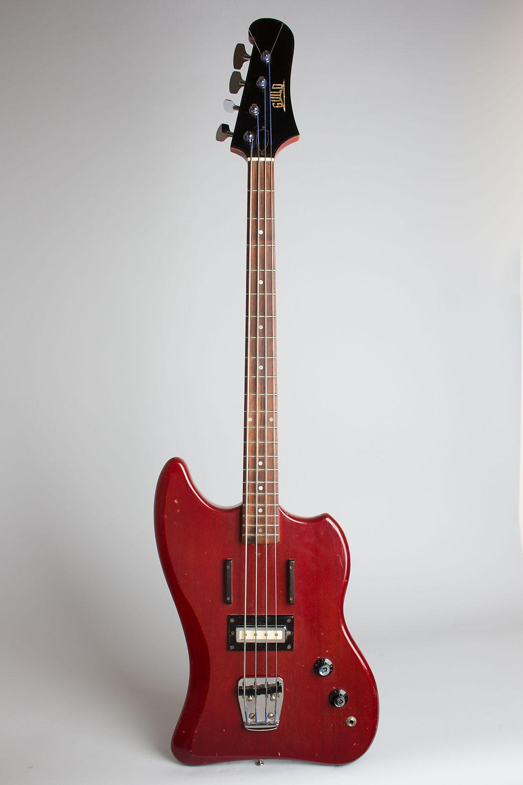 Guild  Jet Star Solid Body Electric Bass Guitar (1966), ser. #SD-240, original gig bag case.
