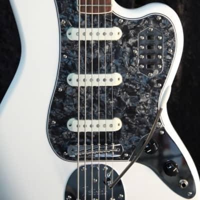 For Squier Vintage Modified Bass VI Guitar pickguard 1 Ply Black