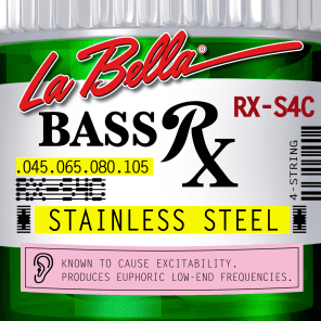 La Bella Bass Strings Rx Stainless Steel 4-String RX-S4C .045-.105