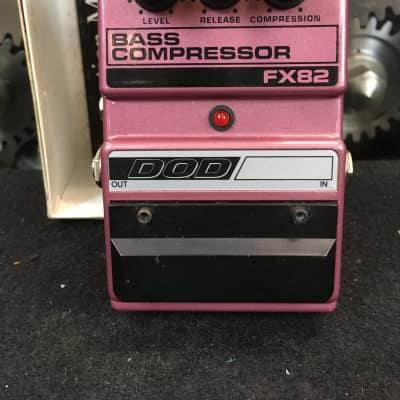 DOD FX82 Bass Compressor Guitar Effect Pedal w/ Original Box for sale