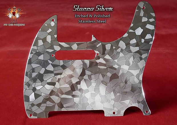 Stacco Silver Chrome Metal Pickguard Fender Reverb