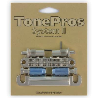 TonePros Metric Tuneomatic/Tailpiece set - Nickel