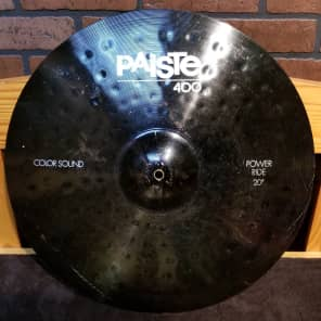 "Paiste 20"" 400 Color Sound Black Power Ride Cymbal"