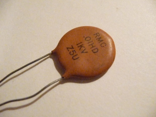 New Old Stock Vintage RMC Mallory  01 Ceramic Disc Capacitor NOS Never Used  Guitar Tone Control